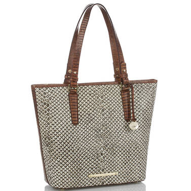 Asher Tote Onyx Java Side