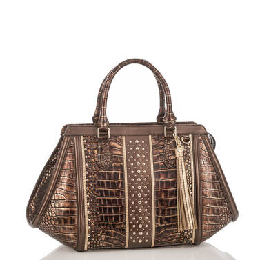 Arden Satchel Brown Milan Side