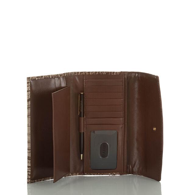 Modern Checkbook Wallet Lava Chenoa, Lava, hi-res