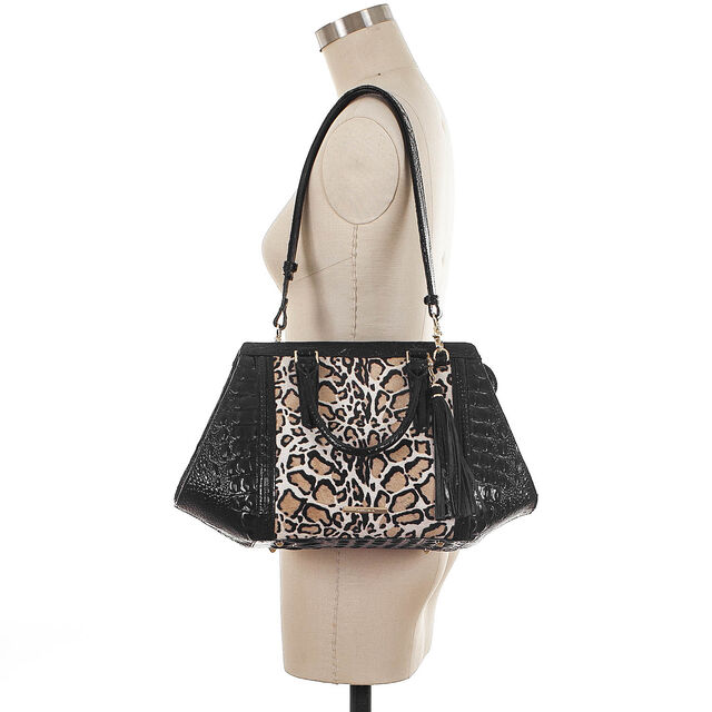 Arden Satchel Black Rowena, Black, hi-res