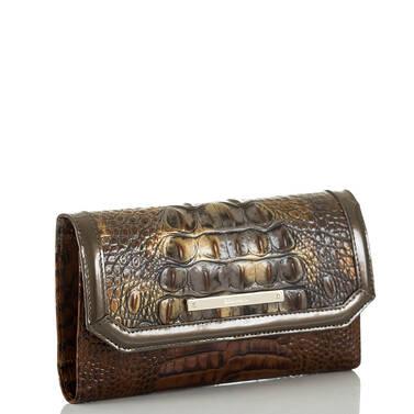 Soft Checkbook Wallet Fall Tortoise Durham Side
