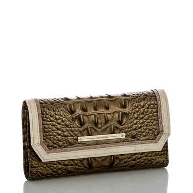 Soft Checkbook Wallet Oak Primrose Side