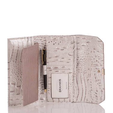 Soft Checkbook Wallet Toasted Macaroon Orleans Interior