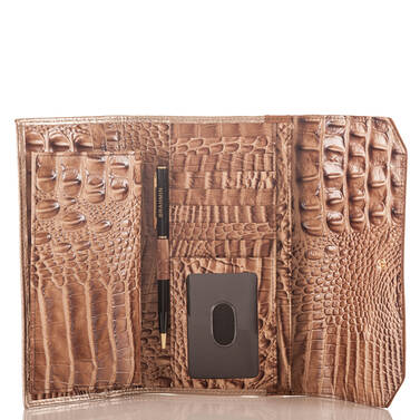 Soft Checkbook Wallet Sandshell Varadero Interior