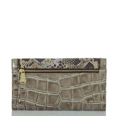 Soft Checkbook Wallet Natural Leighton Back