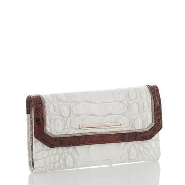 Soft Checkbook Wallet Pearl Akoya Side