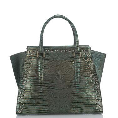 Priscilla Satchel Emerald Moa Front