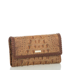 Soft Checkbook Wallet Toasted Almond Dalton Front