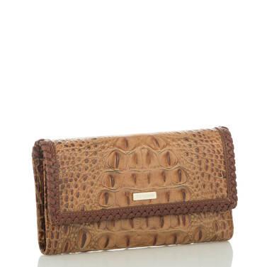 Soft Checkbook Wallet Toasted Almond Dalton Side