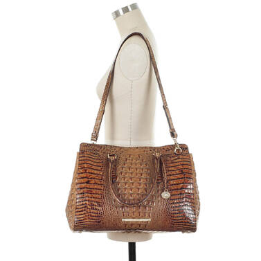 Finley Carryall Toasted Almond Melbourne on figure for scale
