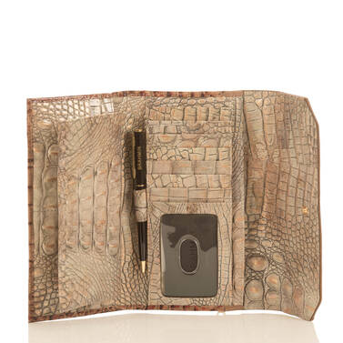 Soft Checkbook Wallet Riesling Tri-Texture Interior