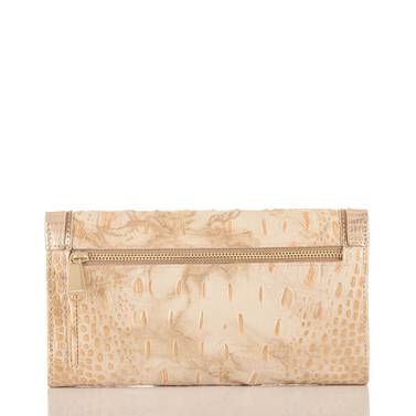 Soft Checkbook Wallet White Tortoise Coro Back