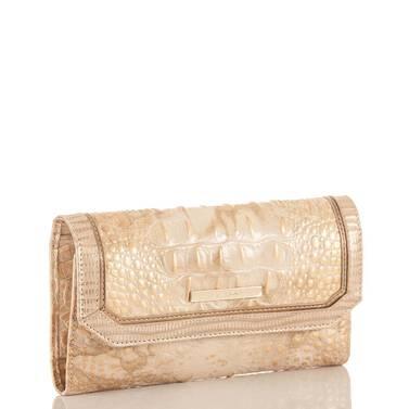 Soft Checkbook Wallet White Tortoise Coro Side