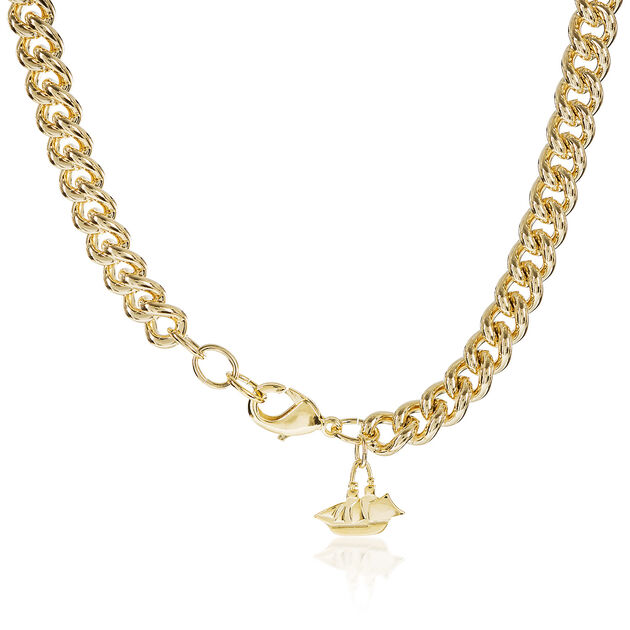 Classic Curb Necklace 18K Gold Plated Providence