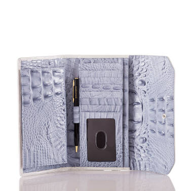 Soft Checkbook Wallet Periwinkle Monroe Interior