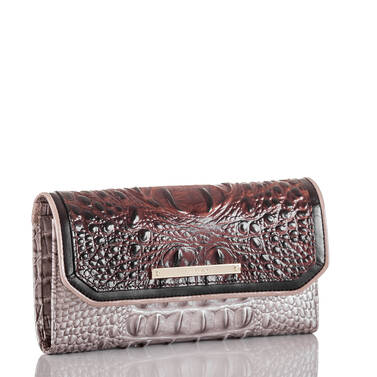 Soft Checkbook Wallet Pecan Antonia Side