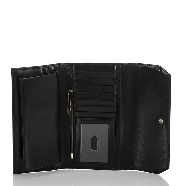 Soft Checkbook Wallet Black Topsail, Black, hi-res