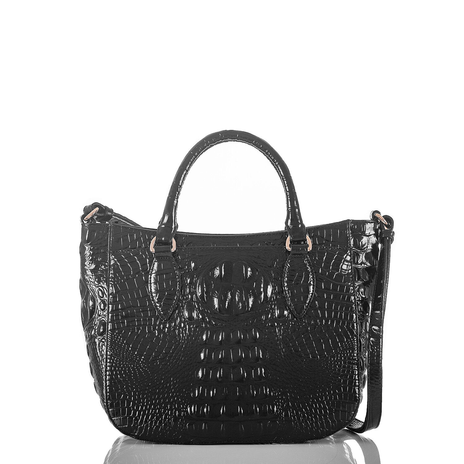 Brahmin Small Lena (Black) Handbags BOdmD6z