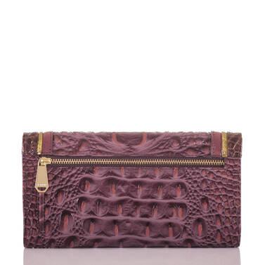 Soft Checkbook Wallet Fig Chapelle Back