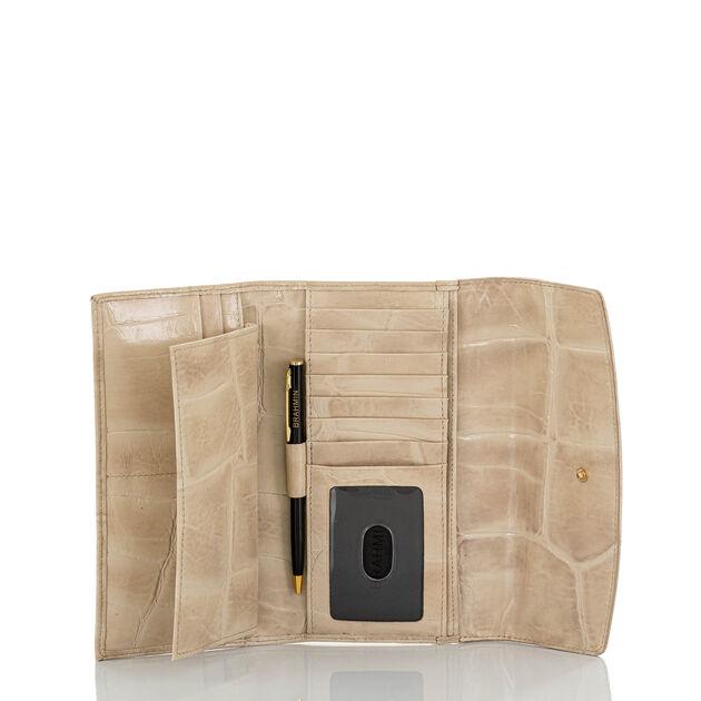 Modern Checkbook Wallet Taupe Callisto