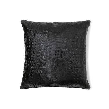 18x18 Pillow Case Black Melbourne Side