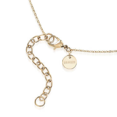 Crystal Charm Necklace Rose Fairhaven Side