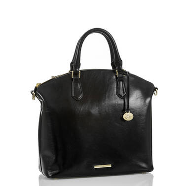 Large Duxbury Satchel Black Topsail Side