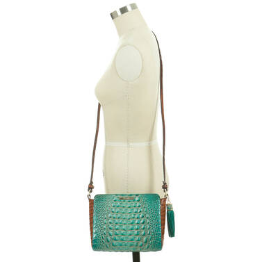 Carrie Crossbody Turquoise Paraty On Mannequin