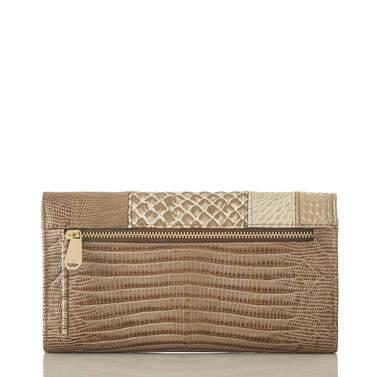 Soft Checkbook Wallet Latte Buena Vista Back