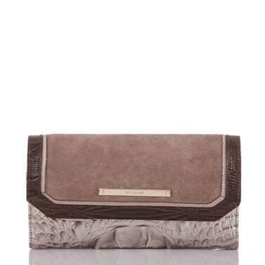 Soft Checkbook Wallet Chardonnay Clermont Front