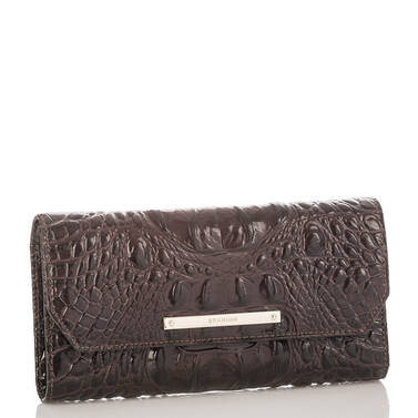 Soft Checkbook Wallet Siltstone Bologna Side