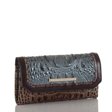 Soft Checkbook Wallet Mallard Davos Side