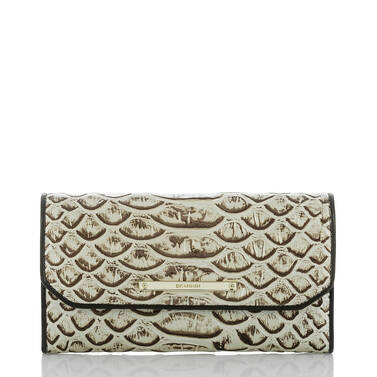 Soft Checkbook Wallet Pearl Dogwood Front