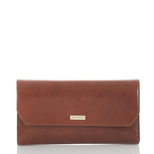Soft Checkbook Wallet Cognac Topsail, Cognac, hi-res