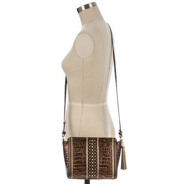 Carrie Crossbody Brown Milan On Mannequin