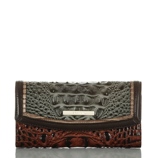 Modern Checkbook Wallet Serpentine Heartwood, Serpentine, hi-res