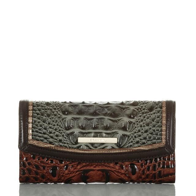 Modern Checkbook Wallet Serpentine Heartwood, Serpentine, hi-res