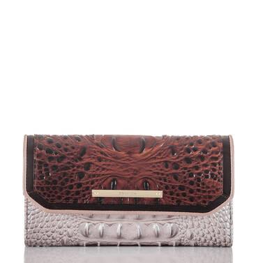 Soft Checkbook Wallet Pecan Antonia Front
