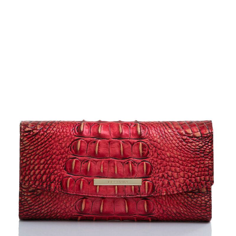 Modern Checkbook Wallet Crimson Melbourne