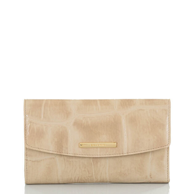 Modern Checkbook Wallet Taupe Callisto, Taupe, hi-res