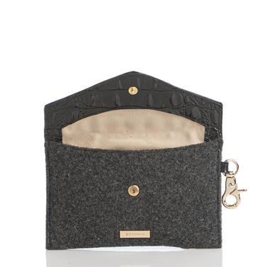 Mini Envelope Case Charcoal Jamestown Interior