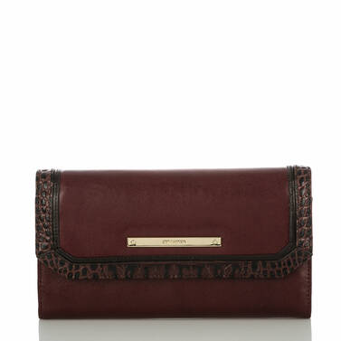 Soft Checkbook Wallet Malbec Autumn Tuscan Front