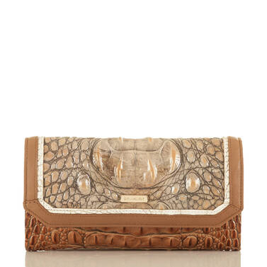Soft Checkbook Wallet Riesling Tri-Texture Front