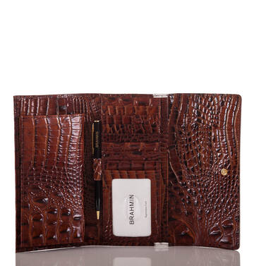 Soft Checkbook Wallet Toasted Macaroon Durance Interior
