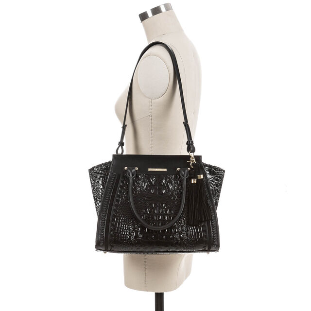 Priscilla Satchel Black Wilde, Black, hi-res