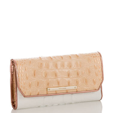 Soft Checkbook Wallet Apricot Crandon Side
