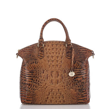Large Duxbury Satchel Toasted Almond Melbourne Front