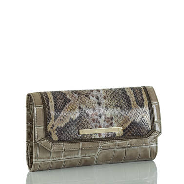 Soft Checkbook Wallet Natural Leighton Side