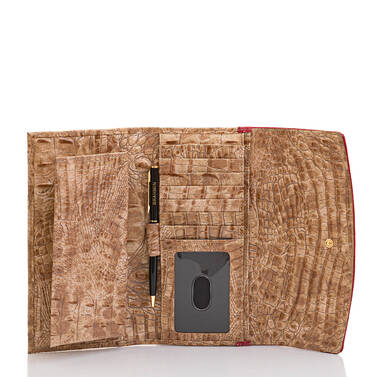 Modern Checkbook Wallet Ember Fuego Interior