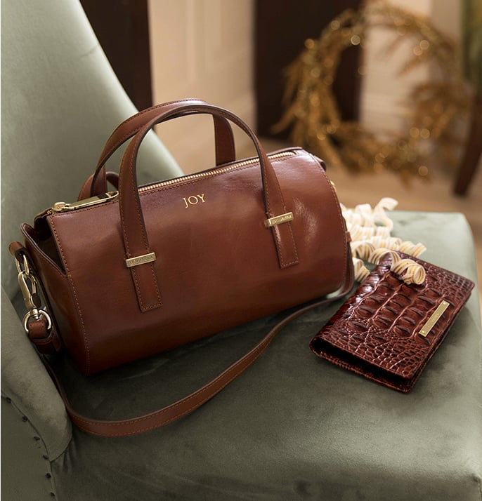 Claire Cognac Topsail and Ady Wallet Pecan Melbourne